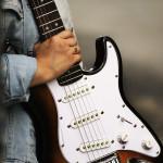 Rachel with guitar